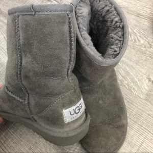 Little girls gray UGG boots